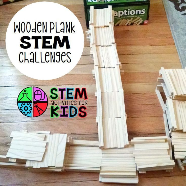 Wooden plank STEM challenges with FREE task cards download. Use at your STEM station with KEVA planks, KAPLA, and more. | STEM Activities for Kids