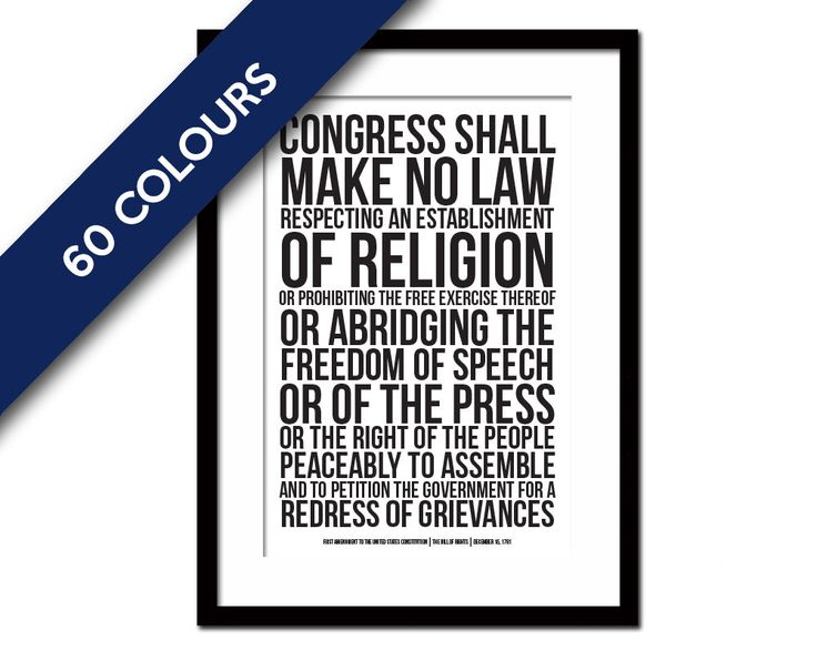 First Amendment US Constitution Bill of Rights Art Print - Freedom of Speech Free Press - Political American History - Human Civil Rights by FolioCreations on Etsy
