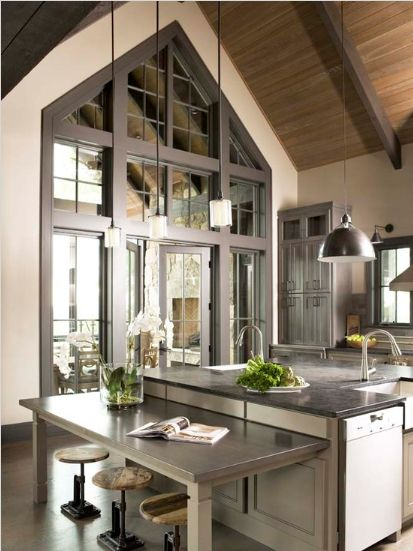 Beautiful Mountain Home Kitchen Kitchens Pinterest