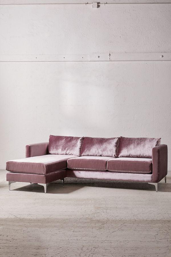 Chamberlin Velvet Sectional Sofa Urban Outfitters Velvet Sectional Sectional Sofa Velvet Sofa