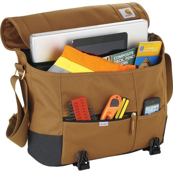 "Carhartt Signature 17"" Laptop / MacBook Pro Waterproof Messenger Bag  - New #Carhartt"