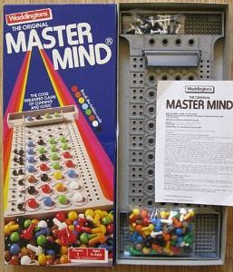Mastermind Game from 1984 i loved this game and have purchased a new one as well as recieving one as a gift.