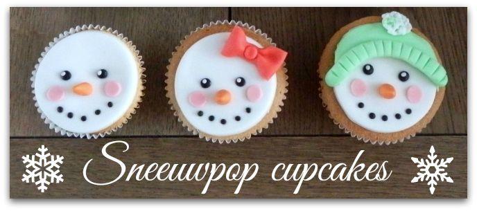 how to sneeuwpop cupcakes leuk en gemakkelijk om te maken how to cupcakes with the face of a. Black Bedroom Furniture Sets. Home Design Ideas