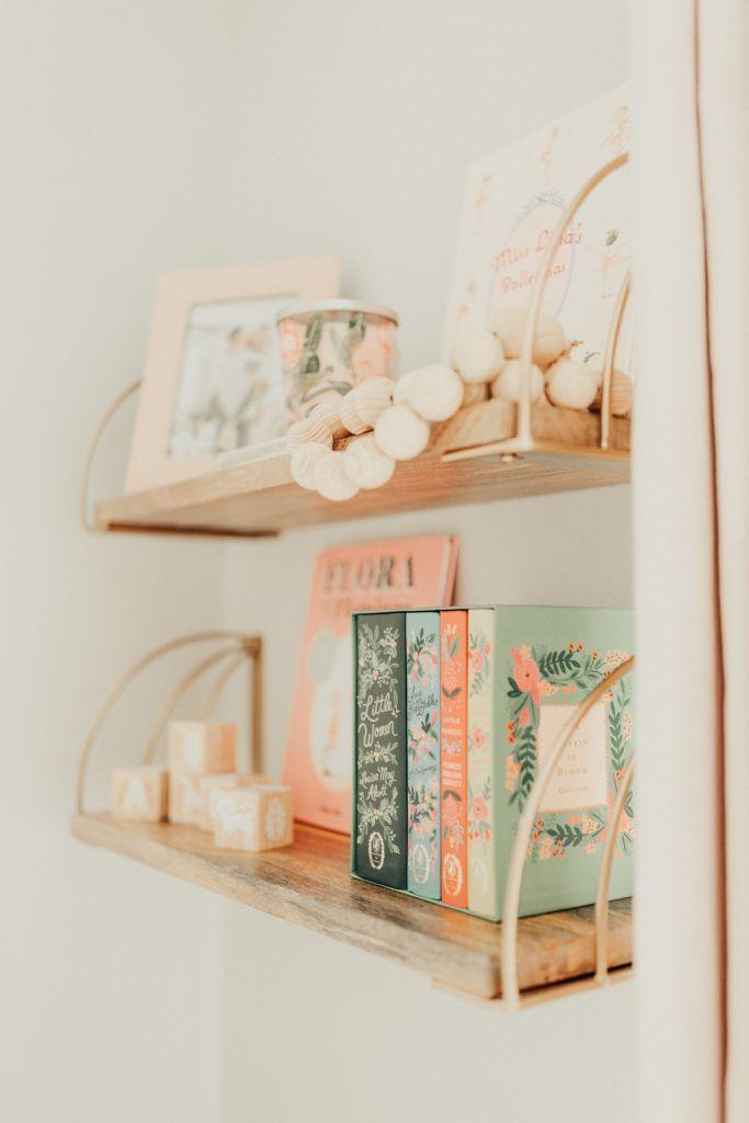 Sweet Pale Pink And Neutral Nursery Project Nursery Girl Bedroom Decor Nursery Shelves Kids Room Design