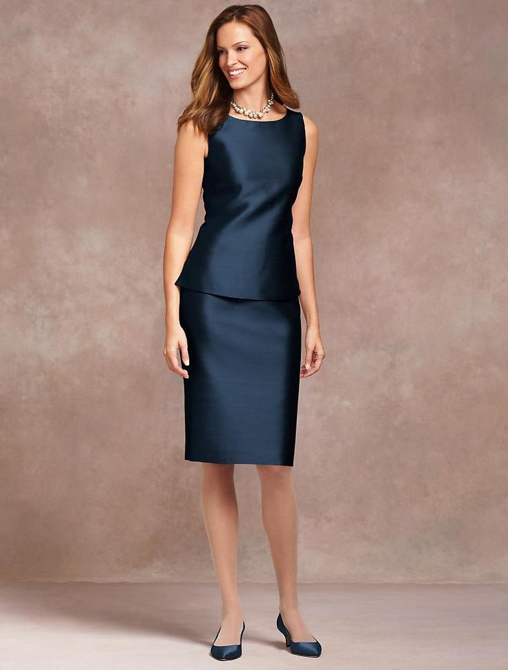 Talbots doupioni sheath top apparel wedding for Talbots dresses for weddings