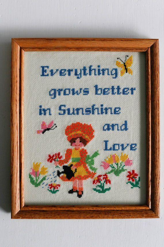 0 point de croix jardiniere - cross stitch gardener