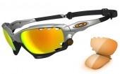 Oakley Racing jacket silver frame sunglasses