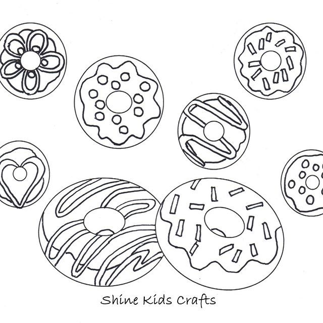 Free Printable Coloring Page Calendar Party Food Donuts