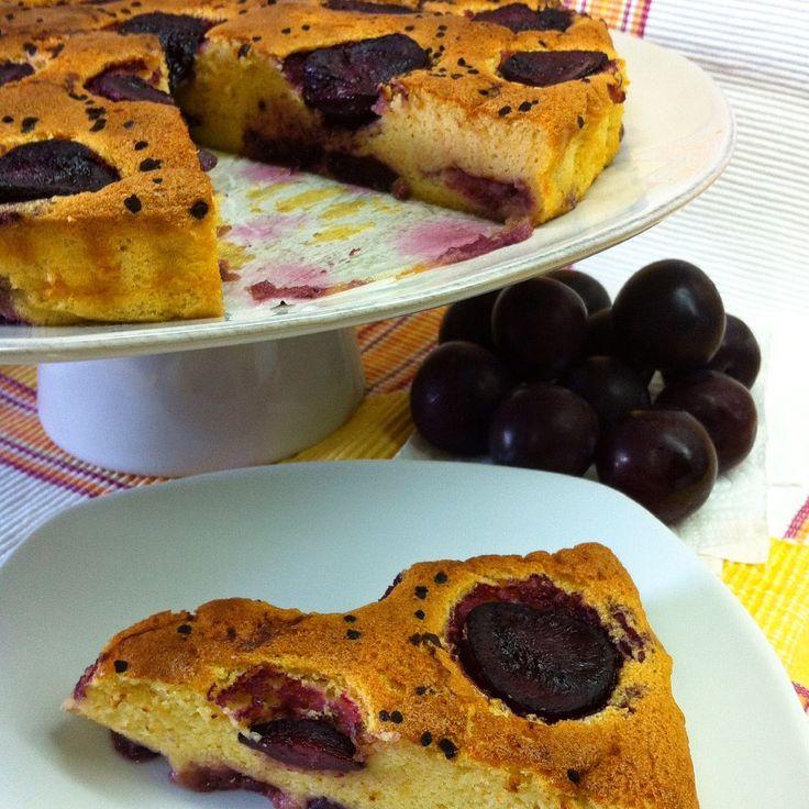 Mascarpone Plum Cake