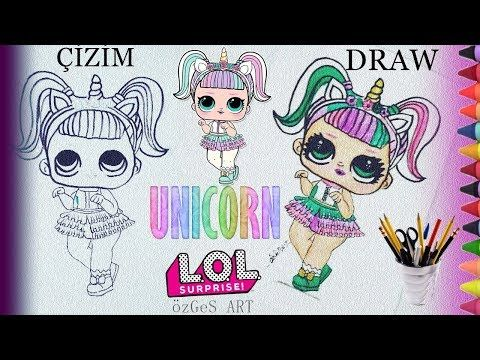 Unicorn Lol Bebek Cizimi How To Draw Unicorn Lol Surprise Doll