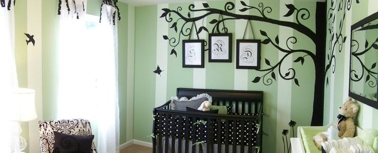 green baby girl room