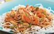 Sauté de crevettes teriyaki sur nouilles de riz - Cuisine - Pratico Pratiques