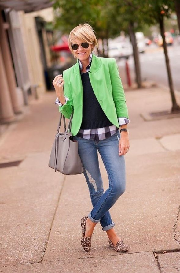 15 beautiful gingham shirt work outfits for women - Stylish Women Outfits