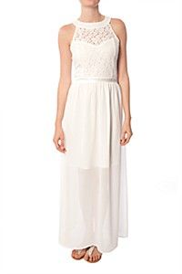 LACE INSET MAXI DRESS