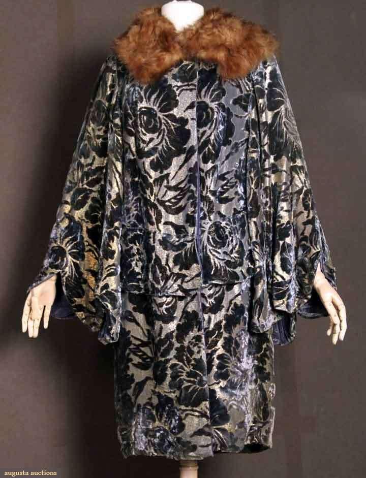 Cut Velvet To Lame Opera Coat, Paris, 1920s, Augusta Auctions, November 10, 2010 - St. Pauls - NYC, Lot 291