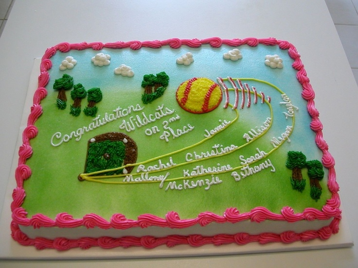 Softball Cake Decorating Ideas Beelduit
