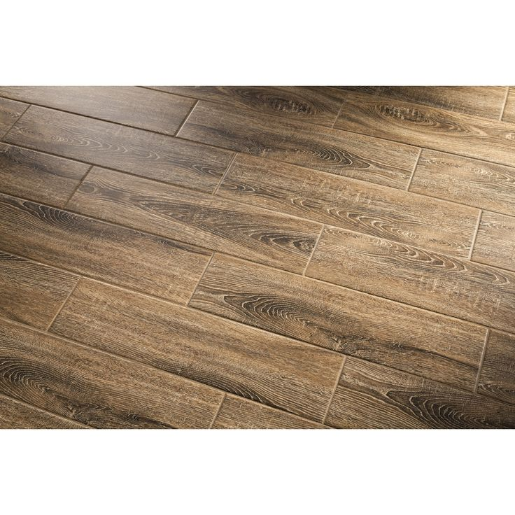 Shop GBI Tile u0026 Stone Inc. Madeira Oak Ceramic Floor Tile (Common: 6-in x 24-in; Actual: 5.84-in ...