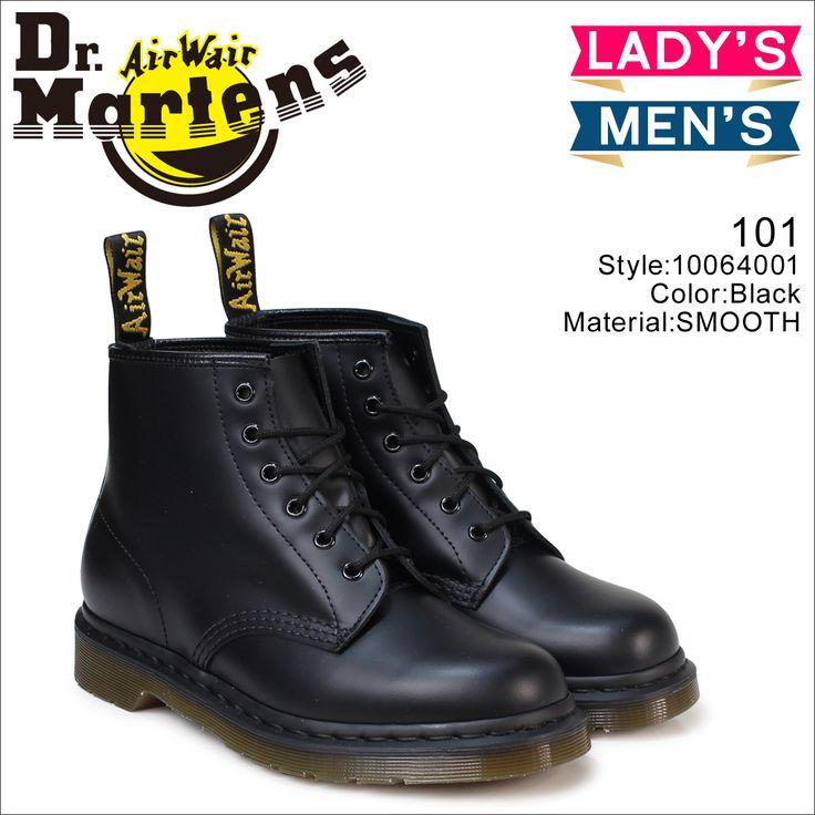 初回交換 送料無料 【22-28.5cm】 ドクターマーチン Dr.Martens R10064001 6EYE シューズ 靴 正規 あす楽 通販。ドクターマーチン 6ホール レディース Dr.Martens 101 ブーツ WOMENS 6EYE BOOT R10064001 メンズ