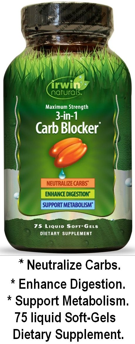 3 in one CarbBlocker ...    Neutralize Carbs ...  Enhance Digestion ...   Support Metabolism ...   75 Liquid Soft-Gels... Dietary Supplement  http://supergrannysays.weebly.com/best-prices.html