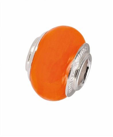 Amore & Baci 13139 tangerine tango Murano glass bead