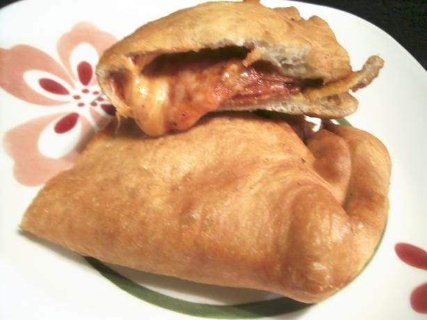 Deep fried Panzarotti. A Philly favorite. Its like a folded and sealed pizza that is deep fried. Delicious!