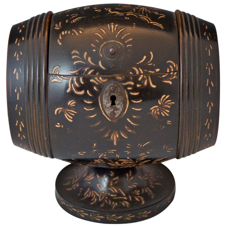 1stdibs.com | Chinoiserie Barrel Tea Caddy