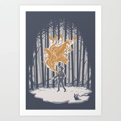 Invincible Summer Art Print by herospy - $16.00