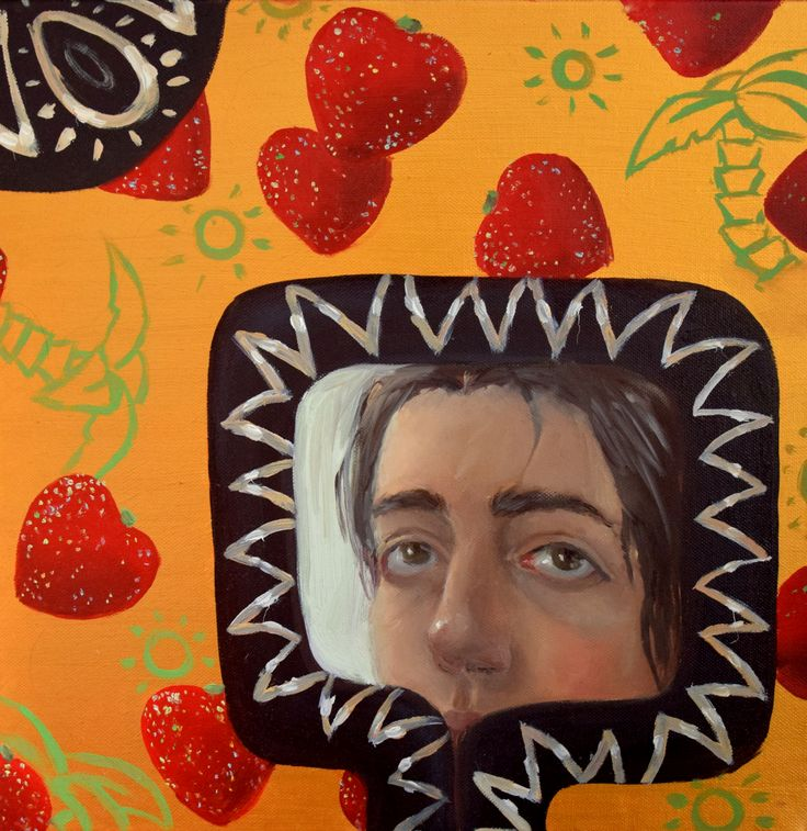 Devils Frame by Klara Sedlo #klarasedlo #symbolism #darkart #darkpainting #mysticalpainting #snake #heart #hearts #portrait #oilpainting