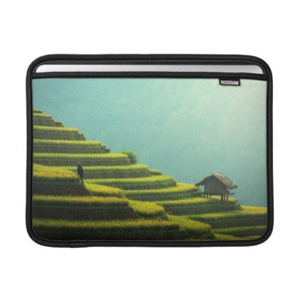 #country - #China agriculture rice harvest sleeve for MacBook air