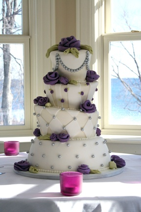 Whimsical wedding cake....but for a birthday. Why not?