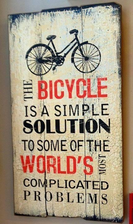 La bicicleta: una solución simple para los complicados problemas que aquejan al mundo de hoy.