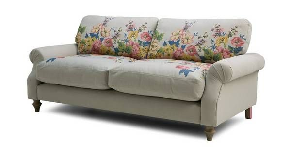 Sensational Cambridge Cotton 3 Seater Sofa Cambridge Plain And Floral Andrewgaddart Wooden Chair Designs For Living Room Andrewgaddartcom
