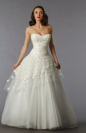 Edgardo Bonilla - Sweetheart A-Line Gown in Tulle