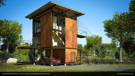 Delta shelter casas i arquitectura pinterest casas for Arquitectura casas pequenas