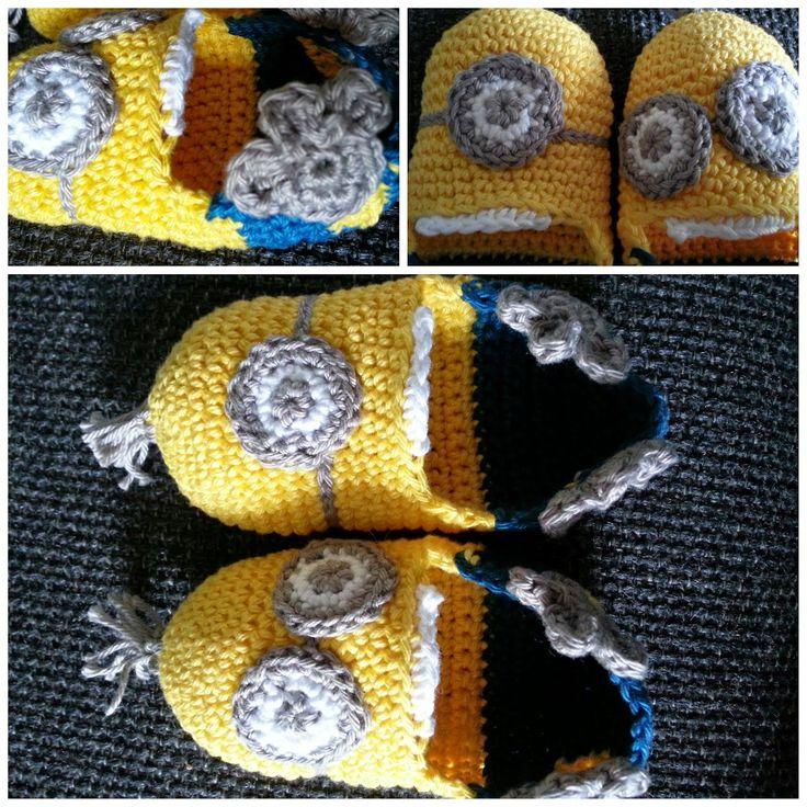 Handgehaakt door Christa: Gehaakte Minion-slofjes, zo schattig!