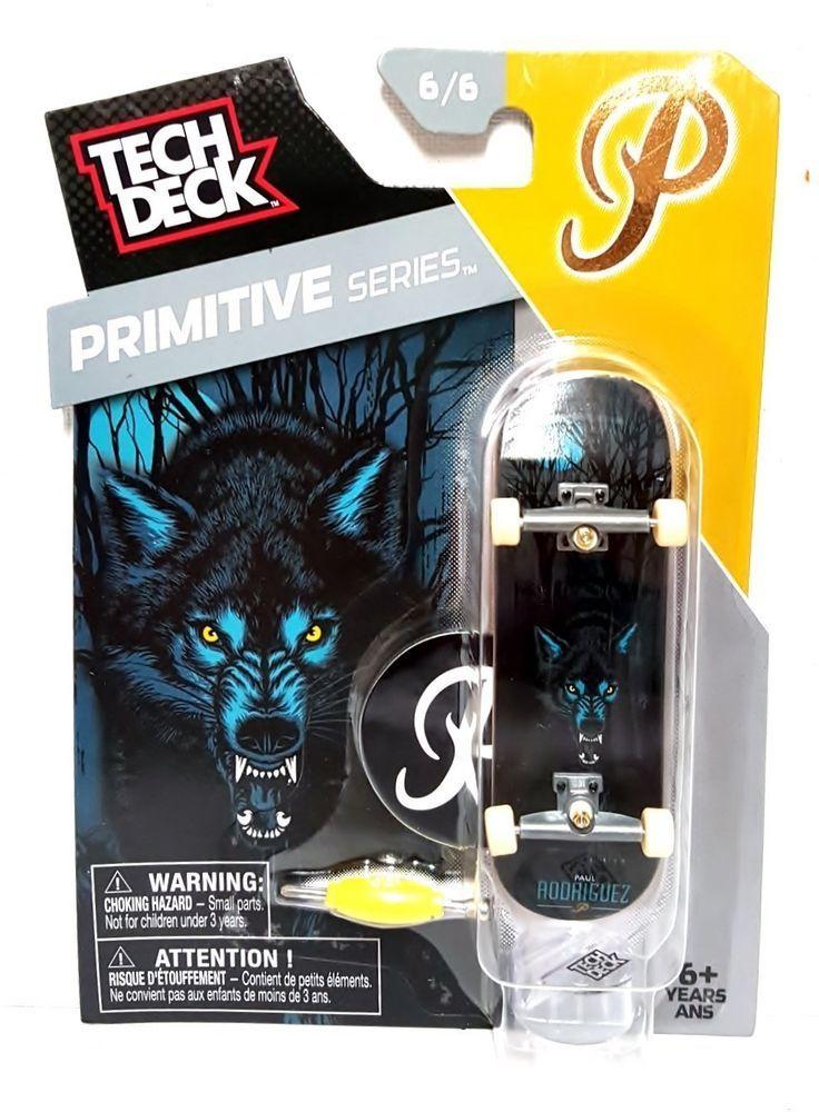 Tech deck Primitive Series Paul Rodriguez Wold Design Deck Fingerboarding #TechDeck