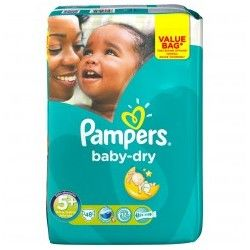 Pack 48 Couches Pampers Baby Dry de taille 5+ sur 123 Couches