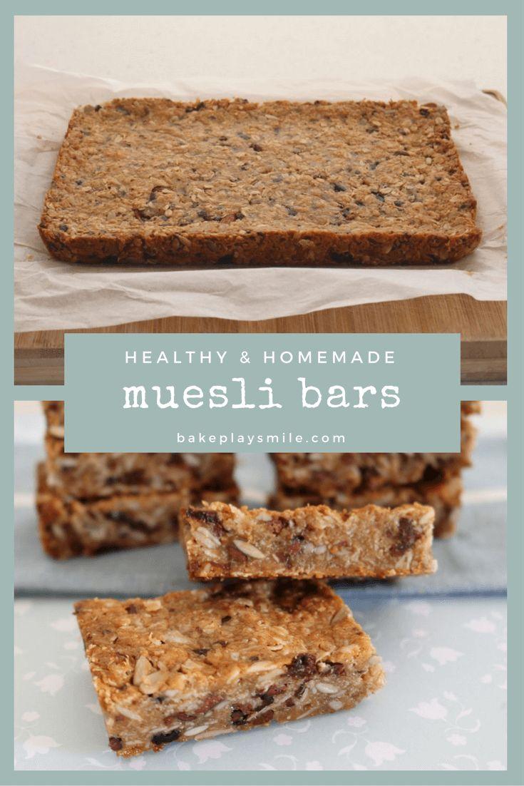 Soft & Chewy Homemade Muesli Bars