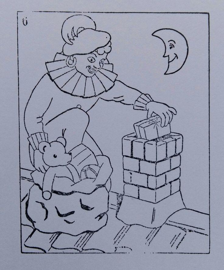 Sinterklaas schoolsempel / kleurtstempel