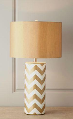 #gold chevron lamp http://rstyle.me/n/gkfadr9te