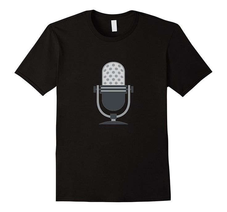 Microphone Emoji T-Shirt Music Singing Karaoke Voice