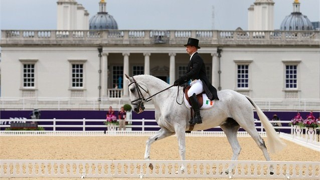 Mark Kyle of Ireland competes in the Equestrian Dressage >> Best arena photo of the venue