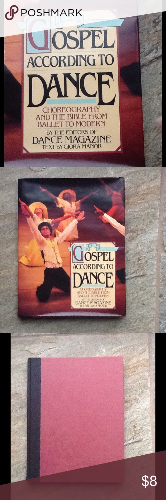 """""""The Gospel According to Dance"""" Vintage Book """"Choreography and the bible from ballet to modern by the editors of dance magazine."""" Text by Gloria Manor. This book is a celebration of dance with text and over 200 rare photographs. Portions of this book originally appeared in Dance Magazine, December 1978, under the title """"The Bible as Dance."""" Published in 1980. Black and white photos. Hardcover with dust jacket. Dust jacket is slightly damaged, but the book itself is in mint condition. St…"""