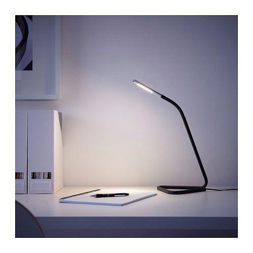 HÅRTE Arbeitsleuchte, LED - schwarz/silberfarben - IKEA