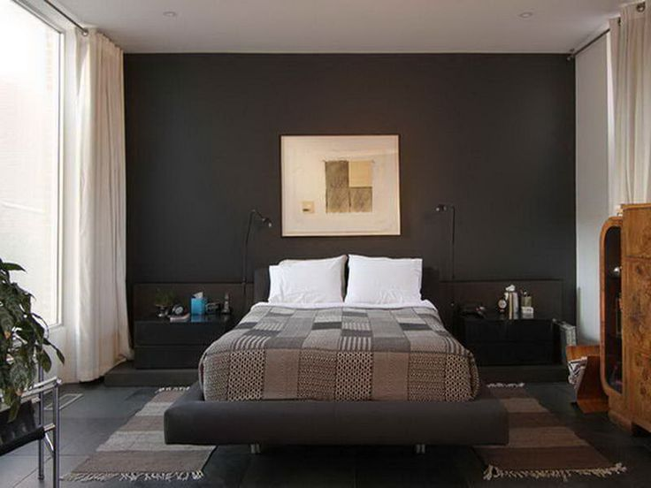 Black and white wall paint bedroom designs