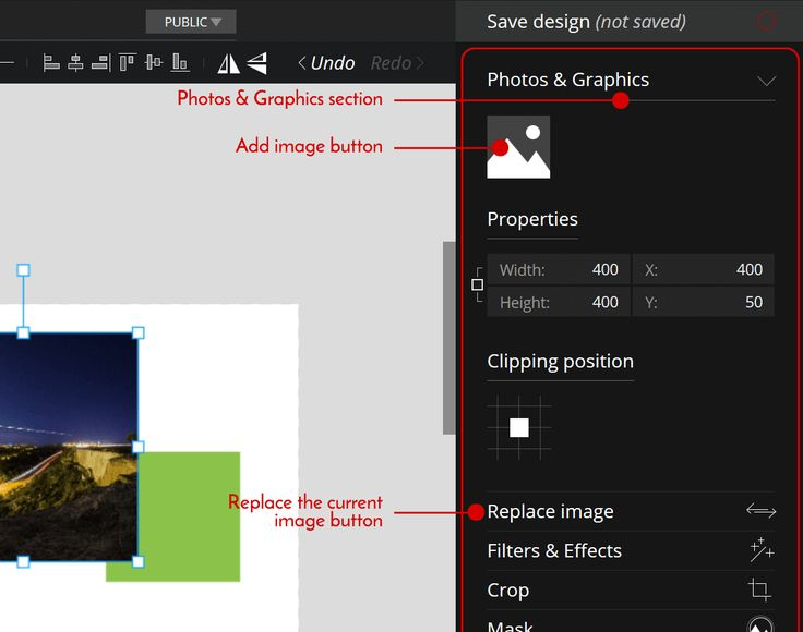 How to replace an #image from your #design on PixTeller.