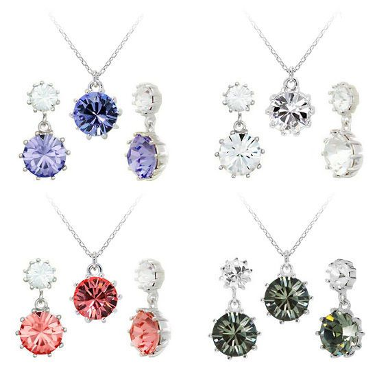 Swarovski Cristal Jewelry 8mm Irene Earing Necklace Sets [E_0228,N_0175] #SwarovskiCristalShopKBeauty