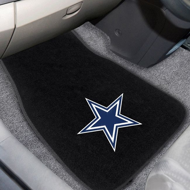 Customize your car or truck and show your team pride with these Dallas Cowboys 2pc Embroidered Car Mats by Fanmats. These Embroidered Car Mats Set of 2 will easily fit most cars, SUVs and trucks. Equi