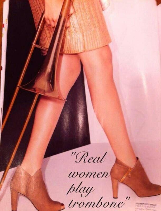Real women play trombone!!!!!! :)