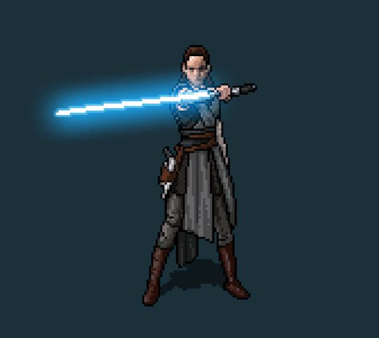 The Last Jedi art by Mikołaj Birek #pixelart